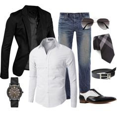 Black smart casual style