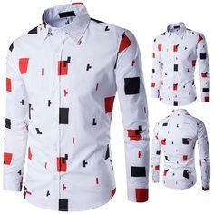 ea67b58ce Color Block Summer Button Down Hawaiian Shirt | Cool clothes | Mens ...