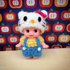 My Hello Kitty Kewpie crochet doll! Pattern and kit available from Stuff Susie Made Etsy shop!