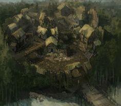 Pin by bryan coverdale on D&D Fantasy village Fantasy town Fantasy landscape