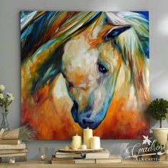 Abstract Horse Painting, Painting & Drawing, Arte Equina, Horse Artwork, Horse Drawings, Arte Pop, Equine Art, Animal Paintings, Horse Paintings