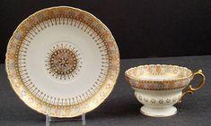 Antique Willets Belleek Tea Cup & Saucer (item #1018872, detailed views)