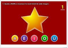 "Aprende con Max: ""Vocal inicial"" (Juego de Vocales de Infantil) Pre School, 1, Calm, Artwork, Software, Students, Apps, Tech, Interactive Activities"