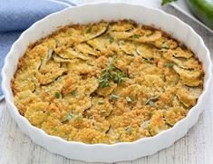 COURGETTES GRATINÉES : la recette facile - CULTURE CRUNCH Parmesan Potatoes, Mashed Potatoes, Italian Vegetables, Italian Christmas, Vegetable Recipes, Italian Recipes, Macaroni And Cheese, Breakfast Recipes, Side Dishes