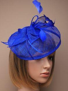 Allsorts® Large Royal Blue Hat Fascinator Weddings Ladies Day Race Royal Ascot: Amazon.co.uk: Beauty