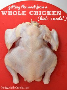 Getting the Most from a Whole Chicken | Turn one chicken into seven meals with these tips :: DontWastetheCrumbs.com