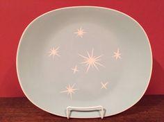 Vintage Harker Star Lite/Starburst Mid Century  Modern Atomic Platter