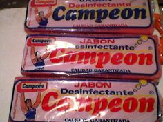 """Jabón germicida """"Campeón"""" a s/.2.00 soles."""