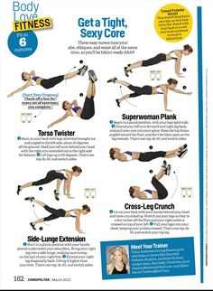 Get a tight, sexy core workout (Cosmo 2012-03)