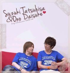 Voice actorメDaisuke Ono (小野 大輔 ) and Suzuki Tatsuhisa (鈴木達央)╰(*´︶`*)╯♡