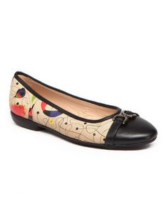 Look what I found on #zulily! Black & Beige Night Katee Leather Ballet Flat by ICON #zulilyfinds