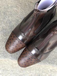 Short Boots, Design Your Own, Dark Brown, Oxford Shoes, Dress Shoes, Lace Up, Fashion, Low Boots, Moda