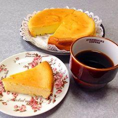 なんだか 甘いものが食べたくって…(#^.^#) - 27件のもぐもぐ - チーズケーキ 作っちゃったψ(`∇´)ψ by orieueki