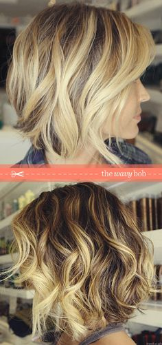 The 'Wavy' Bob | One day when I chop off all my hair I want it to look like this - hair-sublime.com