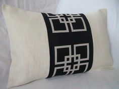 Decorative Designer Pillow Cover-12x18-Overlapping Squares In Midnight Blue $25