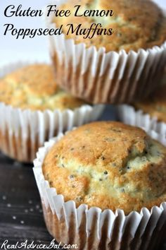 This Gluten Free Lemon Poppyseed Muffin Recipe is perfect for an on the go breakfast you will love!