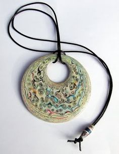 Liz Hamman- pressed and carved paper comic book necklace - with a bunch of links to other paper art projects