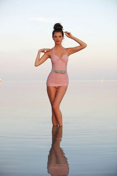 'Evelyn Maillot' vintage-inspired one-piece by Pez D'Or | $158 - I'd love to do a photo shoot with this piece