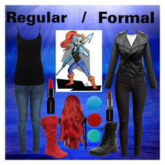 """""""Undyne Cosplay"""" by sophieutemunslow on Polyvore featuring T By Alexander Wang, M&Co, Smashbox, Pop Beauty, Smith & Cult, Lauren B. Beauty, women's clothing, women, female and woman"""