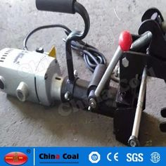 chinacoal03 Electric Rail Bonding Drill/Rrail Driller for Railway Maintenance High quality electric rail track drilling machine can be used for less than 75 Kg/m all type of the rail tracks, the rail clamp device has the selflocking function, high position accuracy, high drilling precision. It uses the twist drill bits, the overall structure, electric rail trck drilling machine is the essential tools for railway maintenance department.