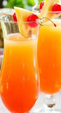 Pineapple Upsidedown cocktail