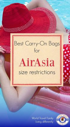 Baggage size regulations on Air Asia are tighter than on European budget airlines. See which bags you can take as carry-on with AirAsia via @worldtravelfam/
