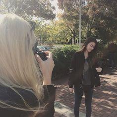 Sneak peek of the next photoshoot #collegefashionista #stylegurulove #beautiful #lovely #girls @rhiannonstevens @lalaladwa #photoshoot #photographyislifee