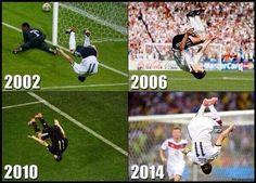 Miroslav Klose's legendary saltos