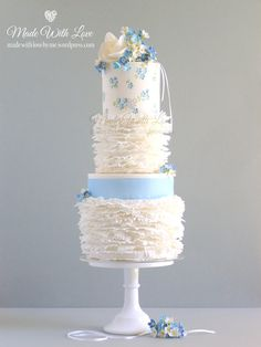 Frills and Forget-Me-Nots Cake - Made With Love