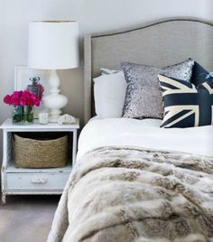30 Ways to Style Your Bedside Table via Brit + Co