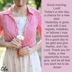 Inspiration For Everyday Today's A New Day, Thank You For Today, Bible Verses Quotes Inspirational, New Start, Morning Messages, Beautiful Morning, My Lord, New Opportunities, Give Thanks
