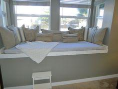 Custom Sewn Window Seat Cushion with Cording - You Choose the Fabric
