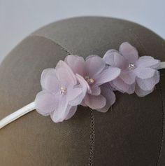 Silk Headband Wrap with Handmade Flowers by RosalindGraceDesigns, $40.00
