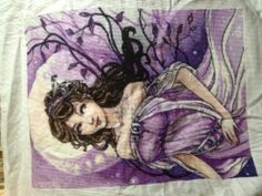 Small project from Heaven and Earth Designs.  Before she was ironed.