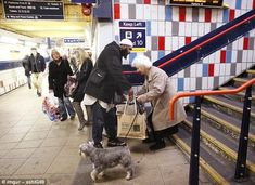 Helping hand: According to the uploader, this man stopped running to catch his train when he noticed an elderly lady who needed assistance on the steps