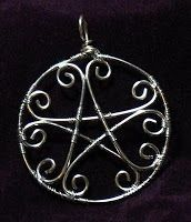 Pentacle. Pentagram jewelry. Wicca. Witchcraft. Pagan.