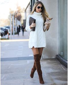 8dcf72fa8a3a0 20 Best Fall Outfit with over the knee boots images in 2019