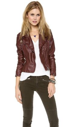 Free People Vegan Leather Peplum Jacket; I actually like the whole outfit.