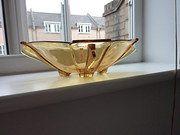 Art Deco Amber Dish