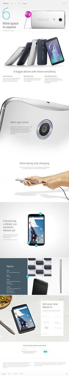 My next phone. #Nexus 6 Official Website http://www.google.com/nexus/6/