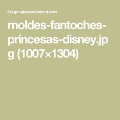 moldes-fantoches-princesas-disney.jpg (1007×1304)