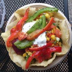 Mango Salsa tortilla bowl from Qdoba!