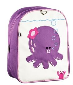Beatrix NY kids' octopus backpack - love that little lobster popping up!