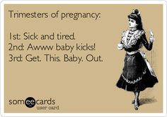 Trimesters of pregnancy: Sick and tired. Pregnancy Quotes Funny, Happy Pregnancy, Pregnancy Labor, Pregnancy Workout, Pregnancy Belly, Pregnancy Classes, Pregnancy Facts, Pregnancy Timeline, Pregnancy Problems