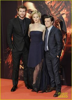Jennifer Lawrence & Josh Hutcherson: 'Catching Fire' Madrid Premiere