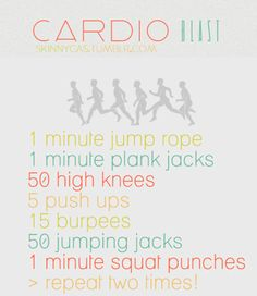 Thinspirational Journey Easy 30 Day Workout Challenge Cardio Workout
