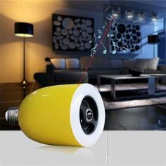 L101 Rechargeable App Control Bluetooth 4.0 Speaker with E27 White Light Globe Bulb (3000-6000K)