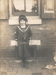 Girl in a sailor suit, c. 1925.