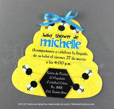 Bumble Bee Invitation  Printable Boys Invitation by PaperArtbyMC