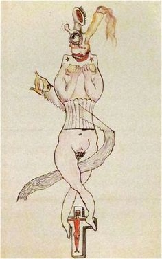 """André Breton, Man Ray, Max Morise  and Yves Tanguy  """"Cadavre Exquis""""  (Exquisite Corpse)  1927"""